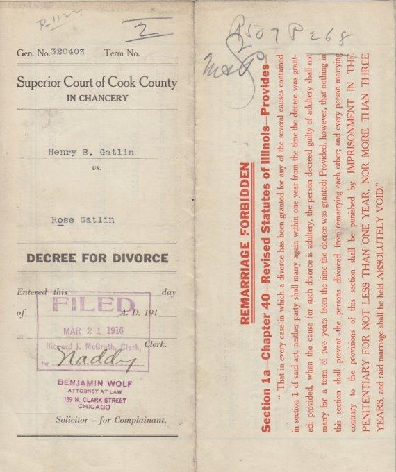 Illinois Divorce Records: So Many Ancestors!: 52 Ancestors: #44 Henry Brown Gatlin