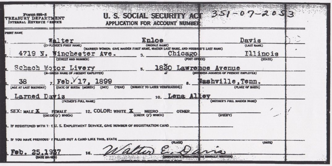 social security administration form