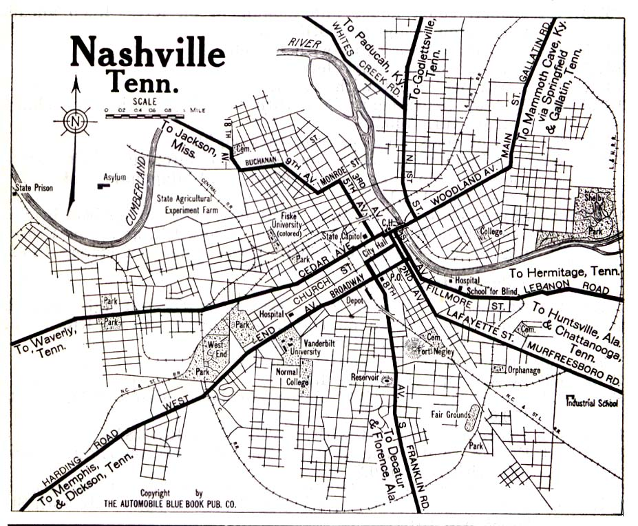 So Many Ancestors!: Mappy Monday: Nashville, Tennessee, 1919